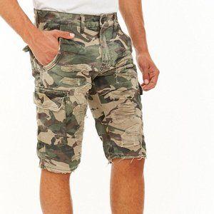 Men's Green Jordan Craig Distressed Cargo Shorts